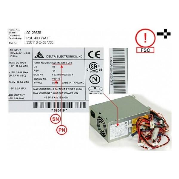 Used Power-Supply FUJITSU FS214U400WSW-1 serveur-occasion com