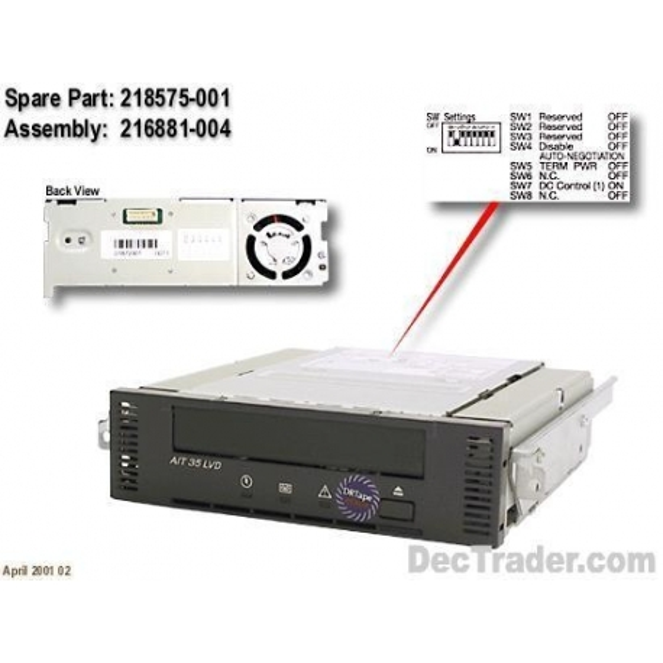Tape Drive AIT HP 3R-A2407-AA