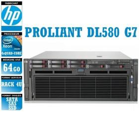 SERVEUR HP Proliant DL580 G7 4 x Xeon Quad Core E7520 64 Gigas Rack 4U