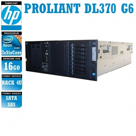 SERVEUR HP Proliant DL370 G6 2 x Xeon Six Core X5650 16 Gigas Rack 4U
