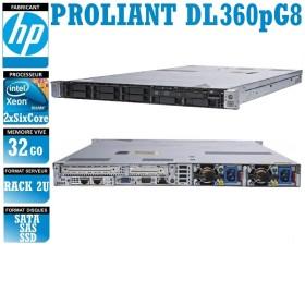Serveur HP Proliant DL360P 2 x Xeon Six Core E5-2640 SATA-SAS-SSD