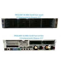 SERVER HP Proliant DL380e G8 2 x Xeon Six Core E5-2440 64 Gigas Rack 2U