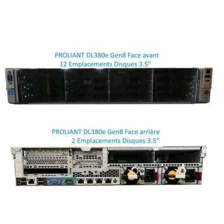 Serveur HP Proliant DL380e 2 x Xeon Six Core E5-2440 SATA - SAS